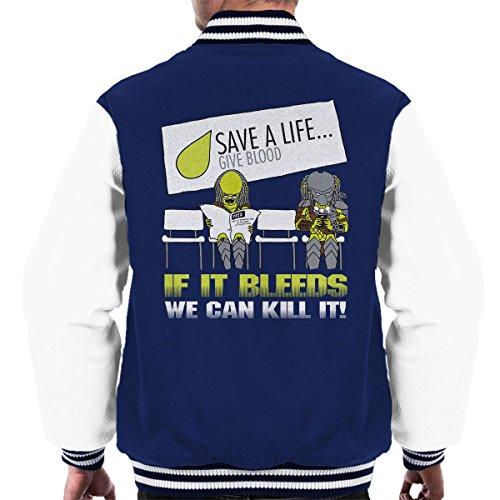 Cloud City 7 Predator If It Bleeds We Can Kill It Men's Varsity Jacket