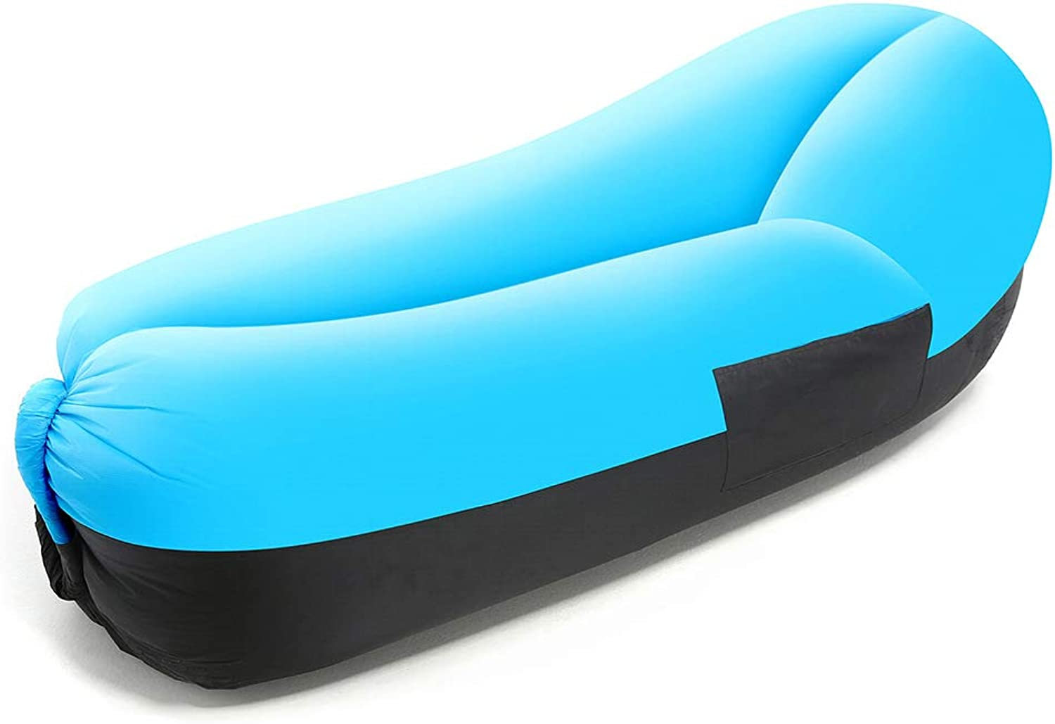 Inflatable Lounger Easy Setup Waterproof Air Lounger with Thicker Fabric, Blow Up Couch Tear-Resistant with Bottle Holder for Camping, Beach, Park, Pool, Picnics (200KG Support)