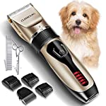 【Professional and Complete Dog Grooming Kit】-- Cleebourg provides you an easy, cost-effective way to keep your pets well-groomed. The kit comes with 6 length attachments(3mm, 6mm, 9mm,12mm, left and right), grooming scissors, and a stainless steel co...