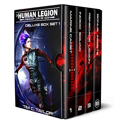 4-in-1 BOXED SET ALERT! Five centuries ago, a million children were offered up as slave tribute to Earth's alien overlords. This is the story of their descendants' fight for freedom…  <em>The Human Legion Deluxe Box set 1</em> by Tim C. Taylor