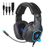 SADES SA818 Xbox One PS4 PC Gaming Headset Gaming Over Ear Headphones