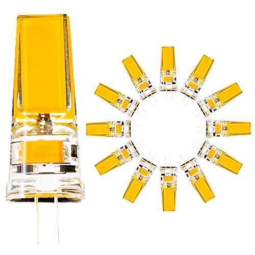 12er Pack,G4 LED COB Energiesparlampe 5W ersetzt 50W Halogenlampen,Warmweiß 3000K,360 Grad Beleuchtungswinkel,AC 220V,500 Lumen,Nicht Dimmbar