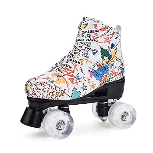 I nuovi pattini a rotelle urbani, pattinaggio a quattro ruote, doppia fila,...
