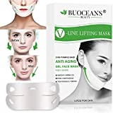 V Line Mask, V Mask, Neck Mask, Chin Lift, Double Chin Reducer, V Line Lifting Mask Contour Lifting Firming Moisturizing Mask, V-Line Lifting Patches V Shaped Slimming Face Mask, 5 PCS