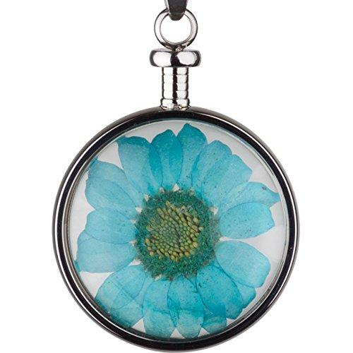 blumenkind Kettenanhänger Blume Blau BL01MSSBL