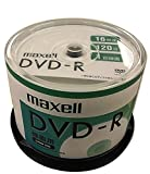 maxell 録画用DVD-R 1回録画用 CPRM対応 120分 16倍速対応 IJP対応ホワイト50枚 スピンドルケース DRD120SIPW.50SP