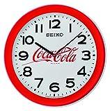 Seiko QXA922R Coca-Cola - Reloj de Pared (40,8 x 40,8 x 5,3 cm), Color Rojo
