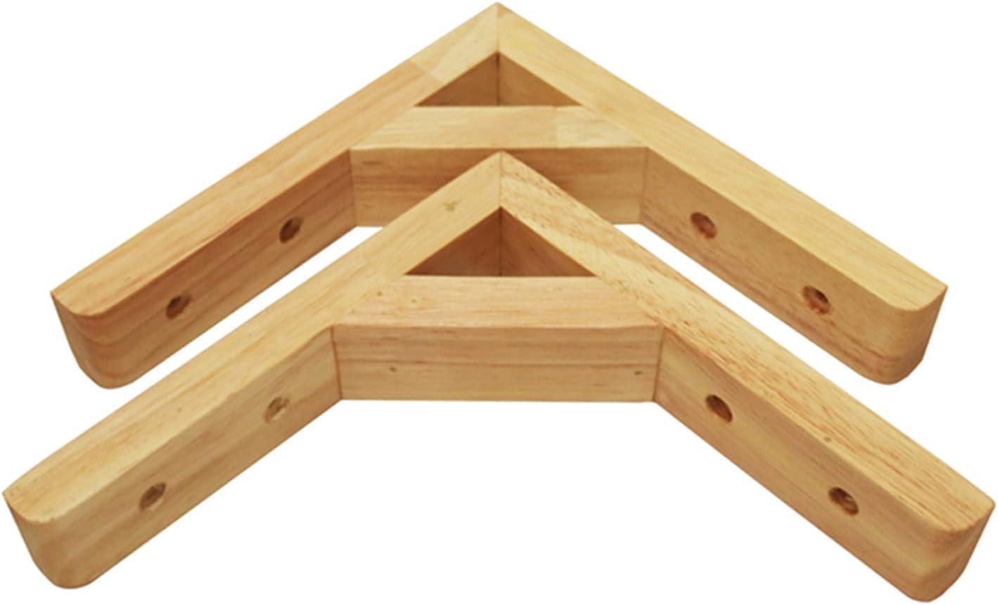 HELOU Wooden Bracket 2Pcs Bargain Wall Righ Brackets Ranking TOP10 Shelf