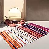 Sala Alfombraes alfombras recibidor Impresión en Color y teñido de alfombras de Estilo étnico decoración Dormitorio Sala de Estar Alfombra Cocina Lavable 60X90CM