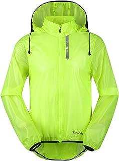 Santic Men's Cycling Skin Coat Jersey Bicycle Windproof Jacket Light Rain Coat Green