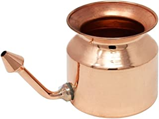 Copper Neti Pot - Natural Ayurveda Cleaning System for Sinus & Nasal Passage by HEALTHNODE
