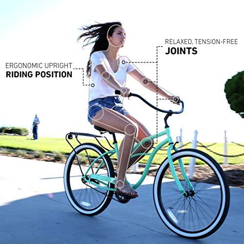 51sWvk20YYL. SL500 Schwinn Perla Womens Beach Cruiser Bike