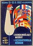 Helsinki Finlande 1962 Poster – Format 50 x 70 cm Papier
