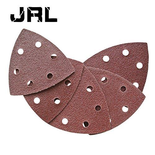 Jrl 5pc 90 mm * 90 mm * 90 mm disque de ponçage pour Grain 60 6 trous papier abrasif