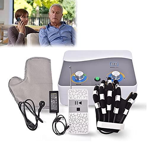Robot de rehabilitación Ortesis de dedos Rehabilitación eléctrica Guantes de entrenamiento auxiliar para flexión Contractura Entrenamiento de dedos Aumentar el tono muscular Hemiplejia