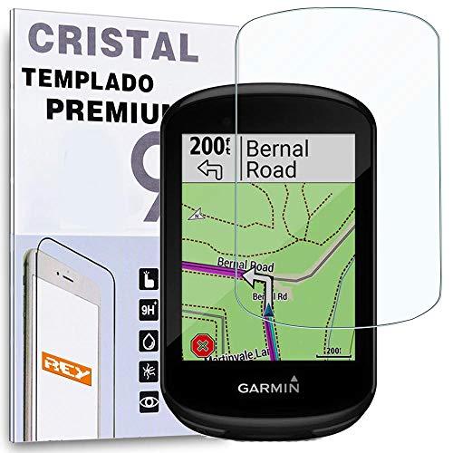 REY Protector de Pantalla para Garmin Edge 530-830, Cristal Vidrio Templado Premium
