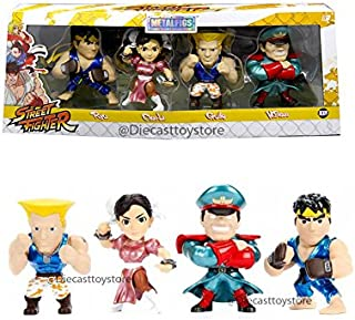 """4"""" METALS - STREET FIGHTER - SET OF 4 - 2017 ANIME EXPO EXCLUSIVE 4PCS 84464-W1 LIMITED EDITION DIECAST BY JADA"""