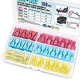 TICONN 100 Pcs Nylon Spade Quick Disconnect Connectors Kit,...