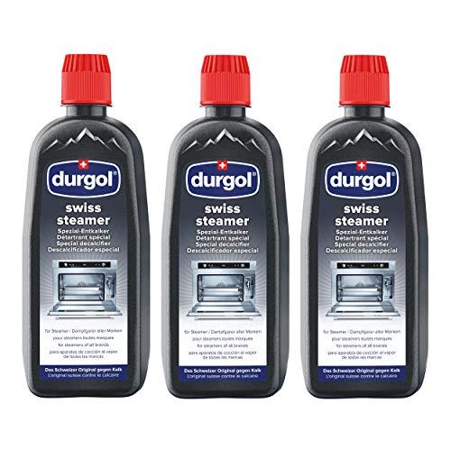 Durgol Swiss Steamer Spezial-Entkalker für hochwertige Steamer und Dampfgarer flüssig, 3er Set, 3 x 500 ml