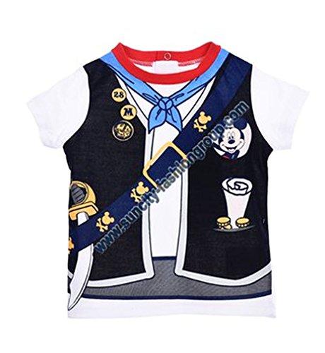 Tee shirt effet trompe-oeil manches courtes bébé garçon Mickey de 6 à 23mois (6 mois, Blanc)