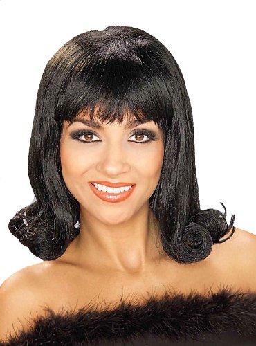 Forum Novelties Women's 60's Flip Curly Costume Wig, Black, One Size