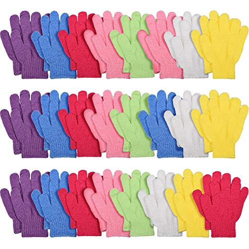 24 Paare Peeling Handschuhe Bad Peeling Handschuhe Körper Wäscher Doppelseitiger Peeling Handschuh für Dusche Körper Spa Massage Entferner Abgestorbener Hautzellen