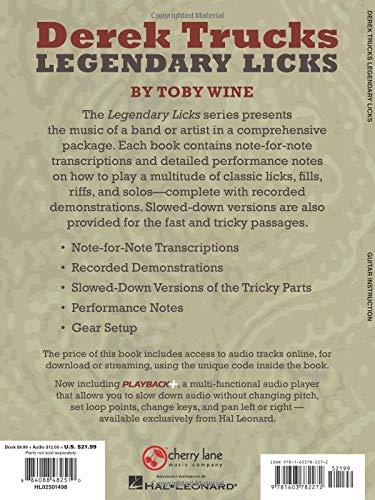 Derek Trucks Legendary Licks: An Inside Look at the Guitar Style of Derek Trucks