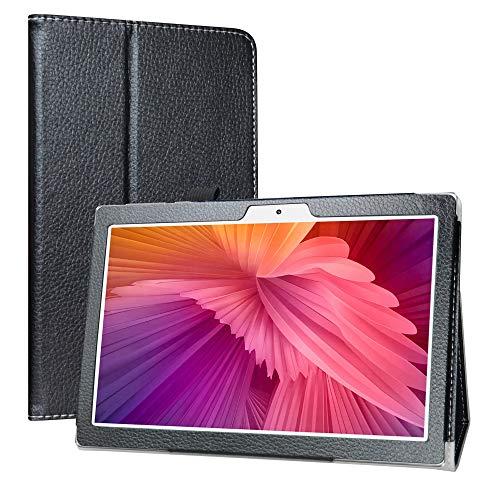 Labanema Custodia con TECLAST M30 10.1 inch Tablet, PU Pelle Slim Flip Case Cover Protettiva Pieghevole Stand Cover per 10.1  TECLAST M30 10.1 inch Tablet - Nero