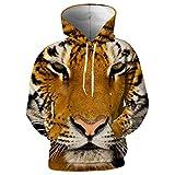 XIELH Sudadera Sudaderas con Capucha Animal Tiger Print Sudaderas De Moda Outwear con Capucha Hombres Mujeres Jerseys 3D Tops De Manga Larga-4XL