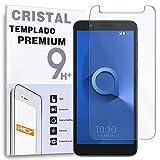 REY Protector de Pantalla para ALCATEL 1X, Cristal Vidrio Templado Premium