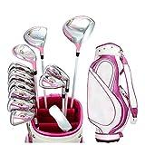 Club de Golf Sturdy and Durable Pink Golf Club Damas Derecho Golf Putter Set Poste Deportes al Aire Libre Golf Combinación Set Guantes de Golf Apto para golfistas