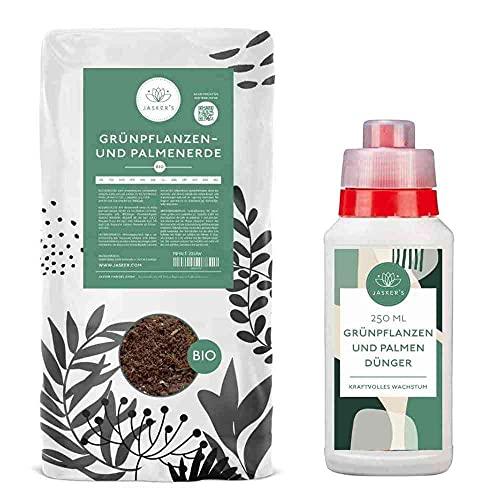 Jasker\'s Sparset Palmenerde + Flüssigdünger⎜ Blumenerde für Palmen | mit 100 Tage Dünger (Bio Palmenerde, 20 L + 400 ml Dünger)