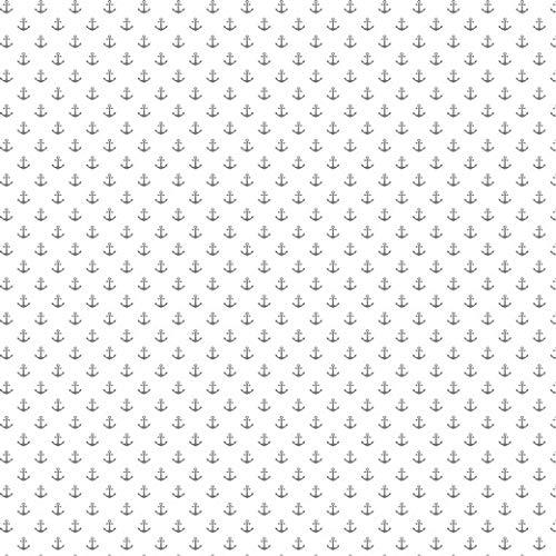 babrause ® Baumwollstoff Anker Mini Weiß Grau Webware Meterware Popeline OEKOTEX 150cm breit - Ab 0,5 Meter