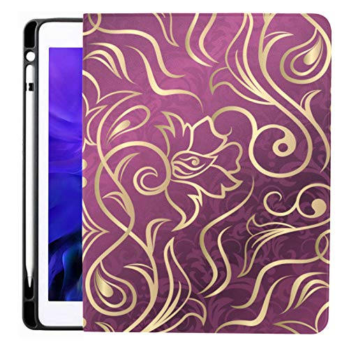 Ipad Pro 12.9 Case 2020 & 2018 With Pencil Holder Damask Design Smart Cover Ipad Case, Supports 2nd Gen Pencil Charging,case For 2020 Ipad Pro 12.9 Cover With Auto Sleep/wake