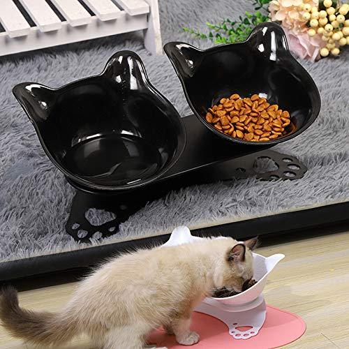 Zoomarlous Pet Bowl - Comida ortopédica antivómitos para perros y gatos con suministro de agua, protege el cuello del útero
