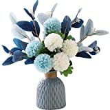 NAWEIDA Artificial Flowers with Vase Faux Hydrangea Flower Arrangements for Home Garden Party...