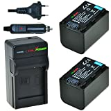 ChiliPower NP-FH70, NP-FH60, NP-FH100 Kit: 2x Akku + Ladegerät