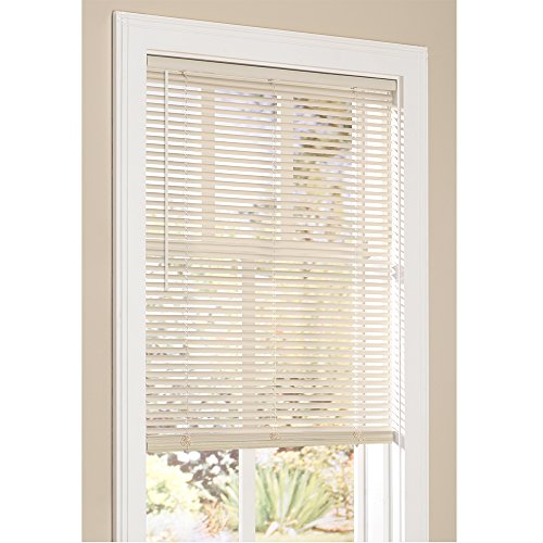 Lumino Vinyl Mini Blinds 1 Inch Cordless Room Darkening in Alabaster - 18' W x...
