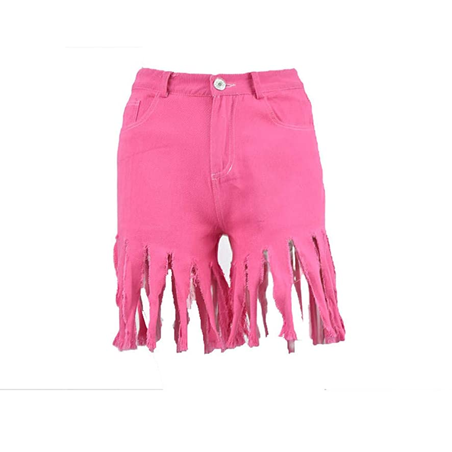 Lmx+3f New Short Jeans for Women Summer Short Jeans Denim Female Pockets Wash Denim Fashion Tassel Hot Pants