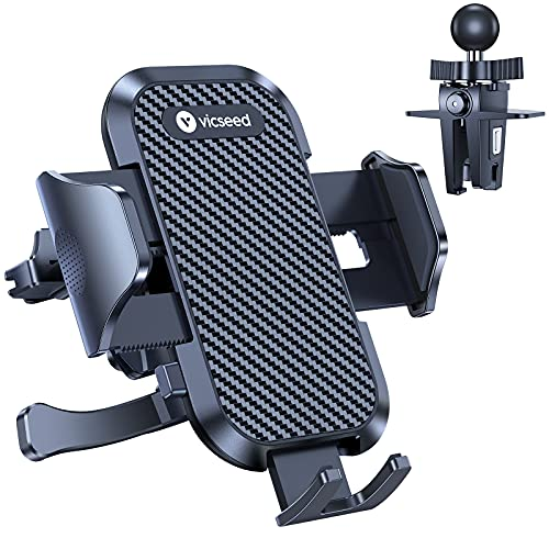 [Holder Leader] VICSEED Ultra Stable Phone Holder for Car, [Upgrade Military-Grade] Air Vent Universal Car Phone Holder Mount Easy Clamp Cell Phone Car Mount Fit for iPhone 13 Pro Max mini & All Phone