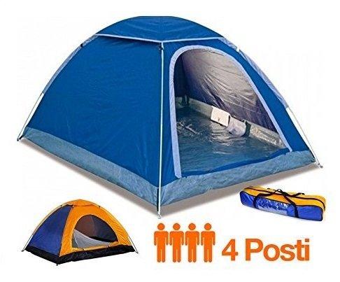 Applife Tenda Canadese Igloo da 4 POSTI Quattro Persone per CAMPEGGI Mare Viaggio Camping Spiaggia 200x200x135 cm