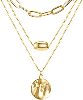 LILIE&WHITE Vintage Coin Pendant Necklace Gold-Layered Choker Necklace for Women
