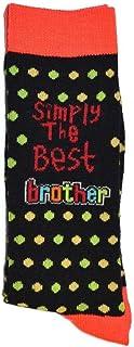SHATCHI, Simply The Best Brother - Calcetines para cumpleaños, día del padre, Navidad, color negro, talla única