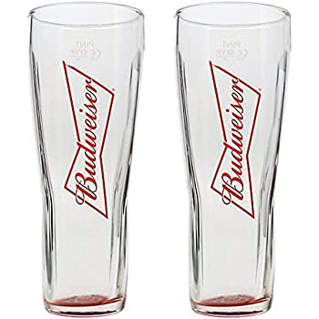 Budweiser Budvar Glass 2//3 Pint Glass 13OZ Postage Discount on Multiples