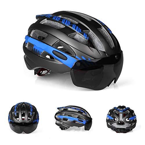 Maybefuture Casco de la Bicicleta con los anteojos magnéticas Desmontables, 25 Vents...