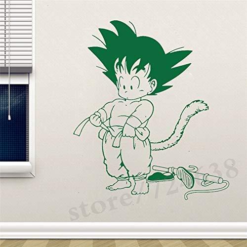 Manga Anime Wandtattoo Son Goku Aufkleber Home Interior Schlafzimmer Dekoration Kunst Wandtür Aufkleber Familie 56X102Cm