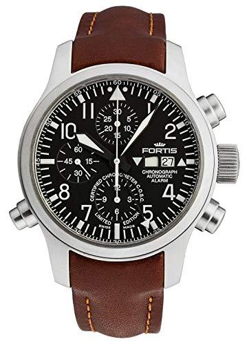 Fortis Herren-Armbanduhr B-42 Flieger Chronograph Alarm - Limited Edition - COSC Analog Automatik 657.10.11 L.18