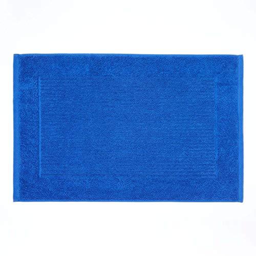 Homescapes Tapis de Bain Uni 100% Coton Turc Imperial 50 x 80 cm - Bleu Roi – Tapis Salle de Bains Extra Doux – Tapis Douche