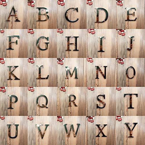 anyuq66qq Gartendekoration Acrylspiegel 26 Großgeschrieben Englisch Dekorative Scrabble Buchstaben Aufkleber Alphabet Hochzeitsdekoration Zimmertür Wandaufkleber, Gold, 10Cm