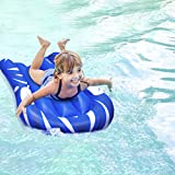 CLISPEED Inflatable Bodyboard Beach Float with Handles Portable Inflatable Surfboard Pool Float for Kids Beach Surfing Swimming Summer Water Fun (Blue)